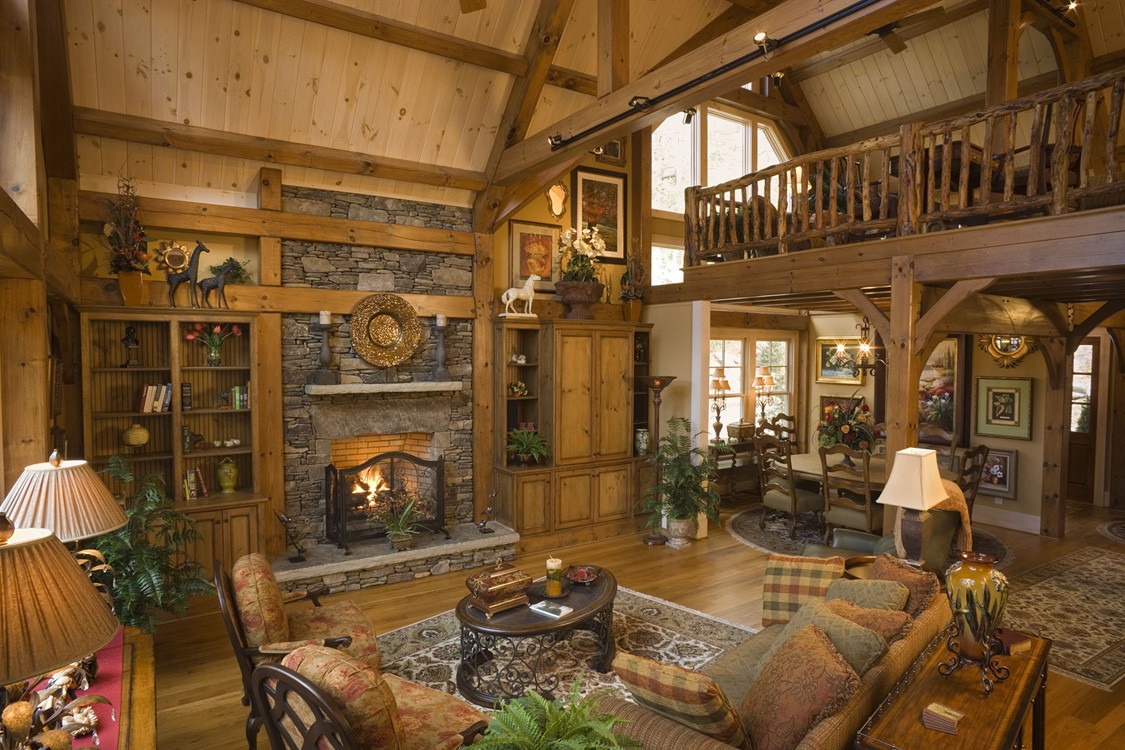 Log home interiors for Log home interior designs pictures