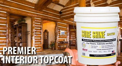 Sure shine premium waterborne acrylic finish for wood - Woodsman premium exterior wood care ...