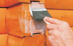 applying log end seal