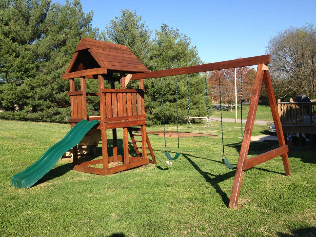 Playset after staining with Lifeline Ultra 7 Bronze 2