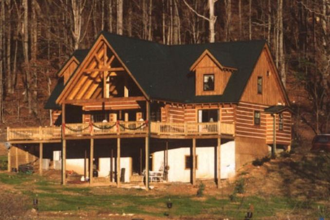 battle creek log home