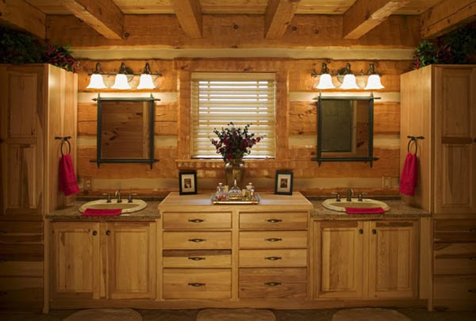 Log Home Bathroom. Awesome Ideas