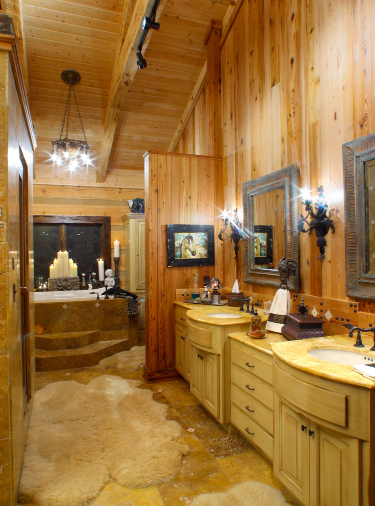 Image Gallery Log Home Bathrooms