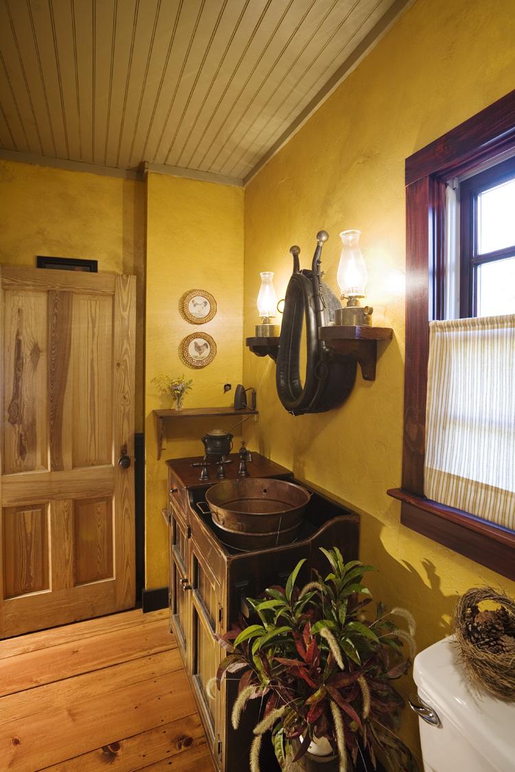 Log home bathroom photos - Log Home Bathroom