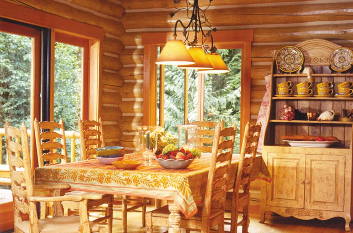 log home dining