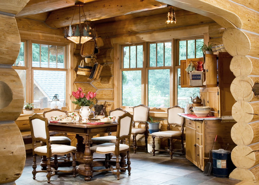 Log Home Dining.
