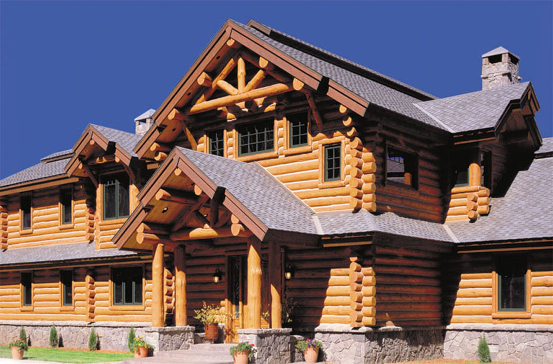 Log home exteriors for Log cabin gunsmithing