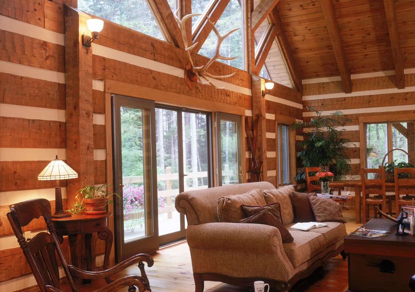 Lifeline Interior Dark Log Home Interiors. Log Home Interior Photos. Home Design Ideas