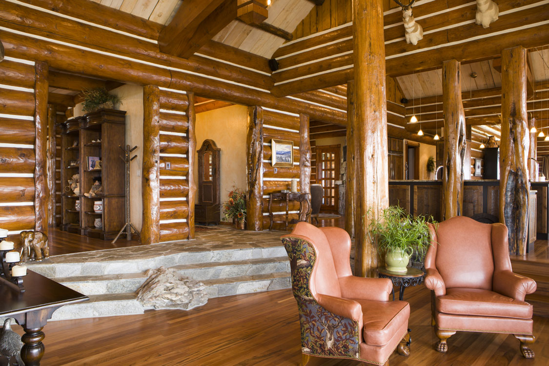 Log home interiors - Natural home ...