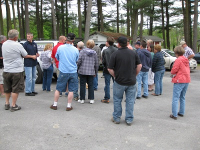 gathering for hands on demonstration