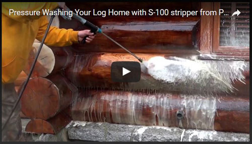 pressure washing log video