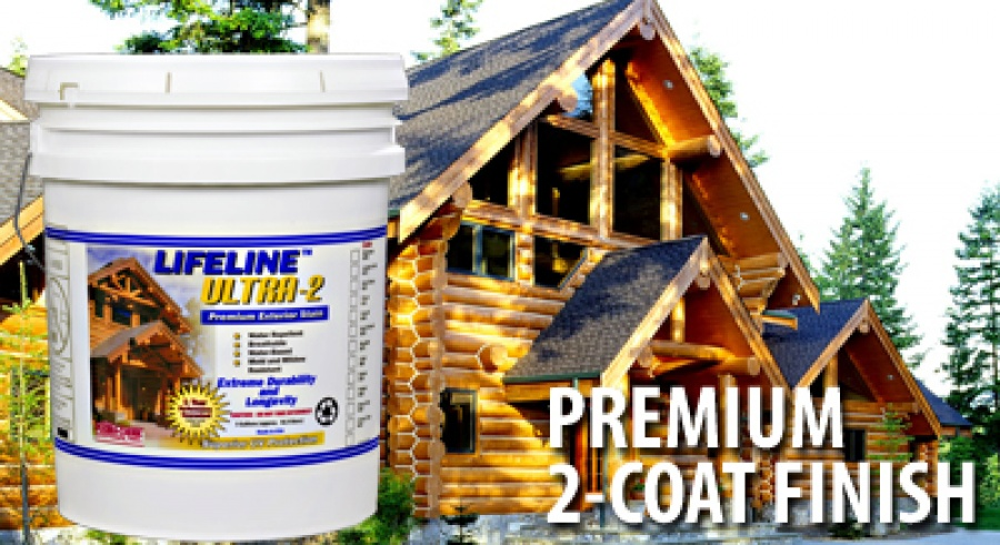 Lifeline Log Home Stain Premium Wood Stain For Log Homes